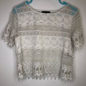 Banana Republic Cropped Lace Top